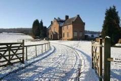 Haywood Park Farm winter snow